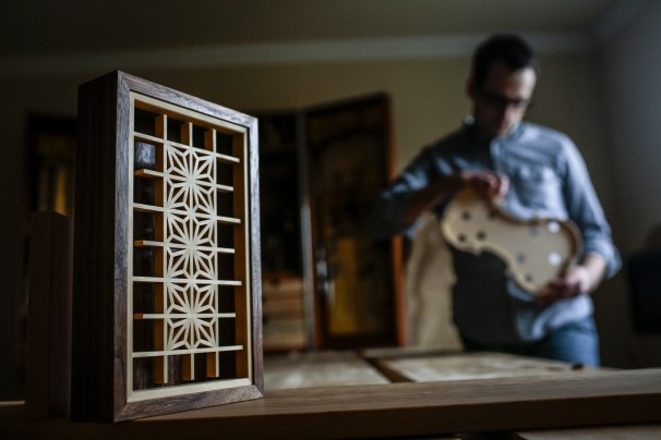 Geremy Coy, inside his Alexandria home. (Dayna Smith/For The Washington Post)